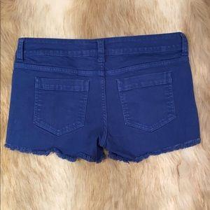 Just USA Black Label Frayed Shorts, Large